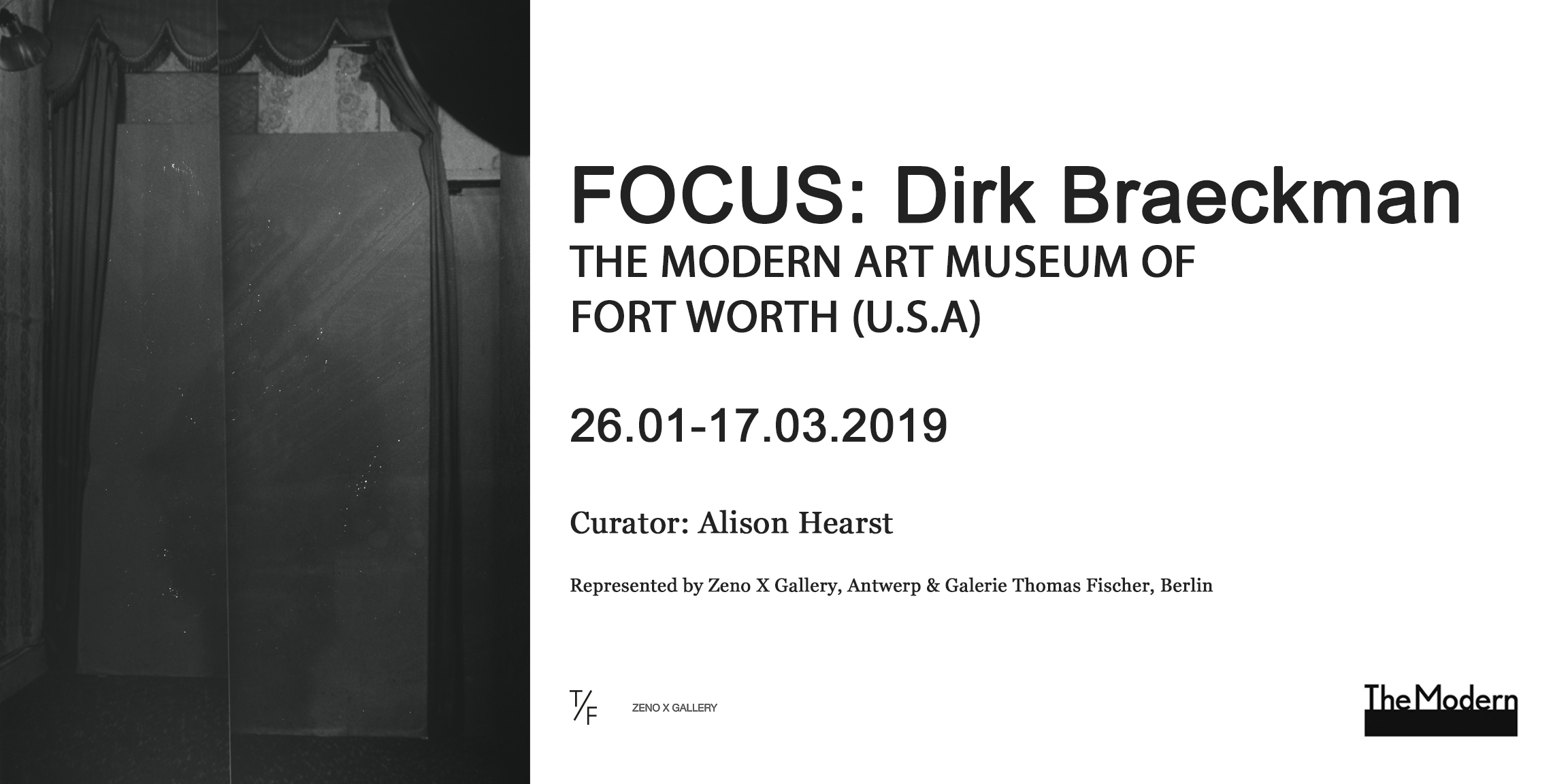 Focus: Dirk Braeckman at Modern Art Museum of Fort Worth, USA — 26.01–17.03.2019