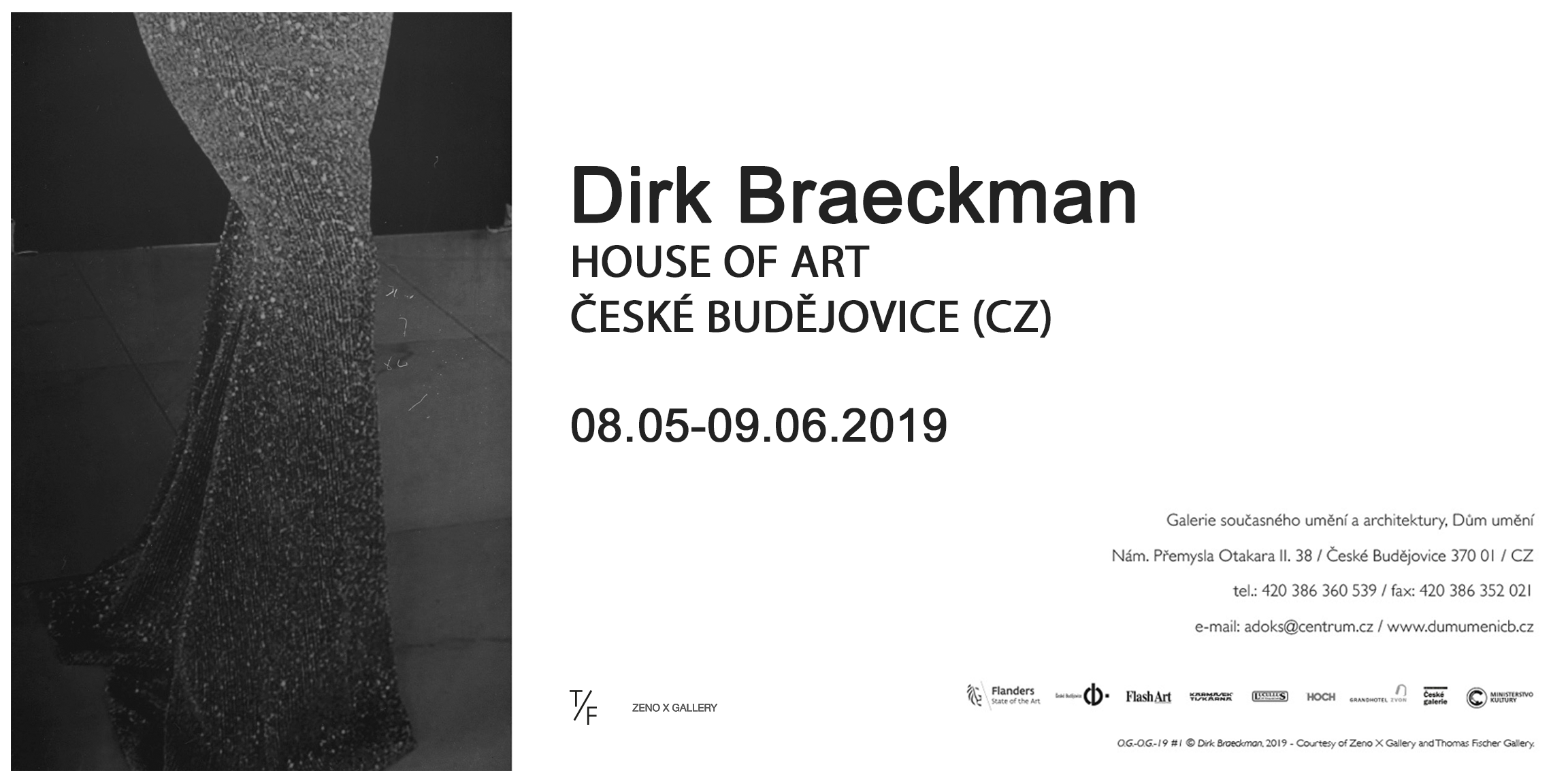 Dirk Braeckman at House of Art Budweis (CZ) — 08.05–09.06.2019